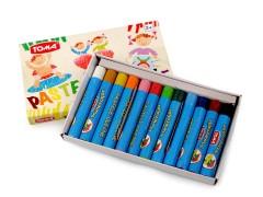 Olajos színesceruzák - 12 db Festék, ecset