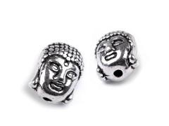 Fém gyöngy Budha - 2 db/csomag Fém-,mágnes kellék