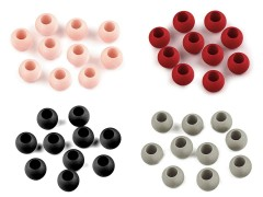 Nagy lyukú műanyag gyöngy matt - 20 db/csomag Gyöngy-,gyöngyfűző