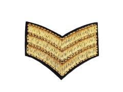 Arany érdem rang felvasalható - 2 db Vasalható, varrható kellék