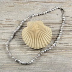 Barokk szürke igazgyöngy nyaklánc - 42 cm Nyaklánc, -kellék