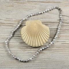 Barokk szürke igazgyöngy nyaklánc - 47 cm Nyaklánc, -kellék