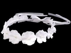 Alkalmi virágkoszorú - Fehér Hajdísz-, kellék