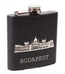 Fém laposüveg 180 ml - Budapest Ajándék ötlet férfiaknak