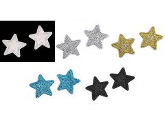 Felvasalható csillag glitterekkel - 10 db/csomag Vasalható, varrható kellék