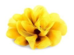 Szifon virág 80 mm - Sárga Medál-, bross
