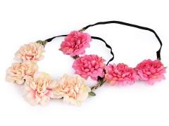 Rugalmas hajpánt virágokkal Hajdísz-, kellék
